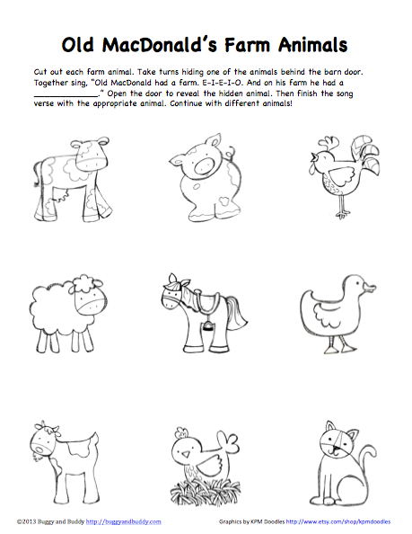 Peek-A-Boo Farm Animals Activity (Free Printable