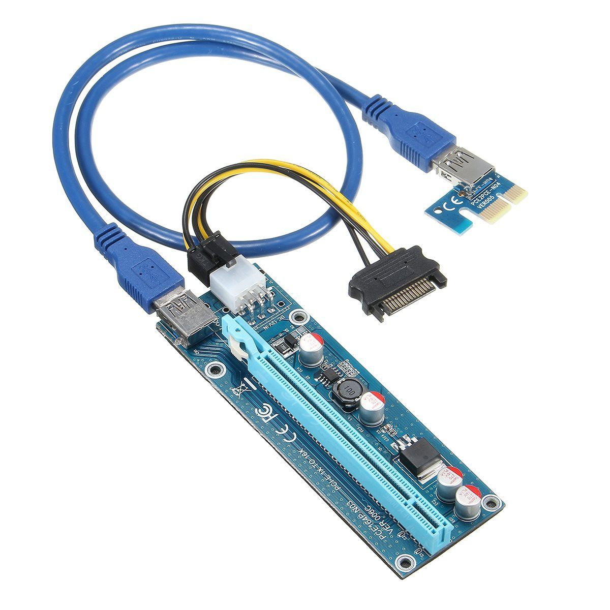 Wholesale 6pcs USB 3.0 PCI-E Express 1X 4x 8x 16x Extender Riser ...