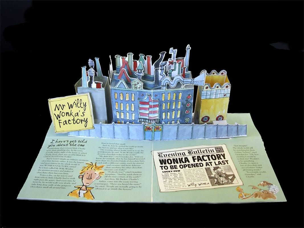 charlie and the chocolate factory pop up book written by roald charlie and the chocolate factory pop up book written by roald dahl illustrated