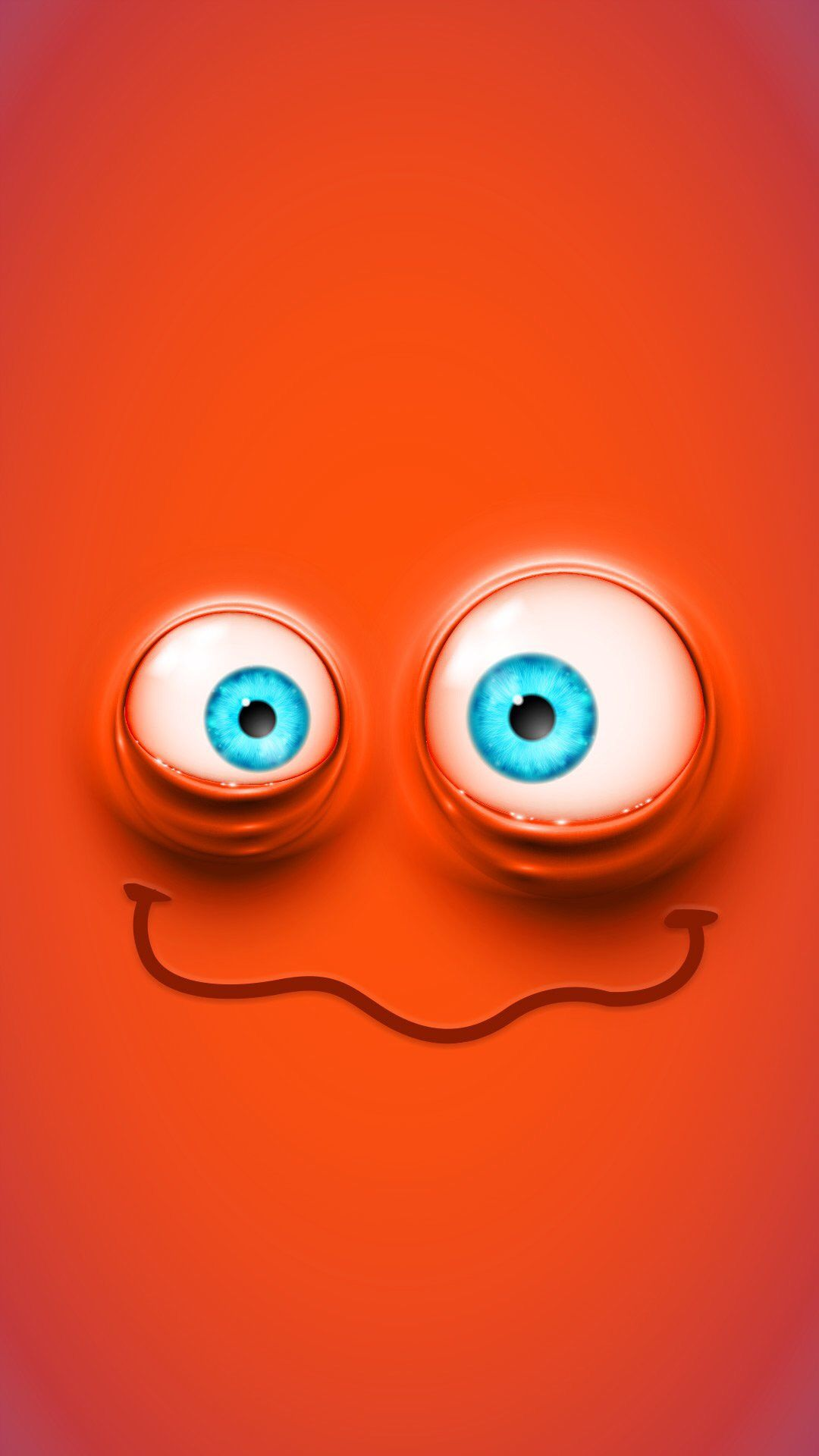 Orange monster grin wallpaper funny faces - Funny iphone wallpaper ...