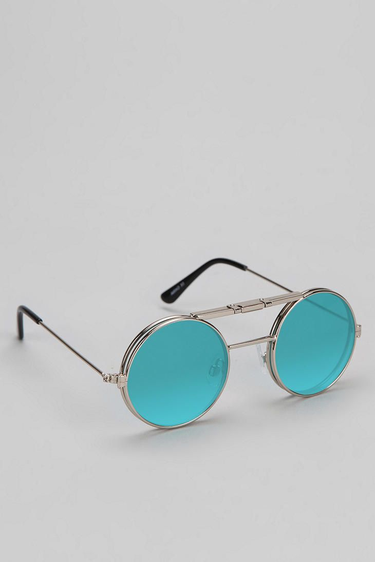 Spitfire Lennon Flip Round Sunglasses - Urban Outfitters
