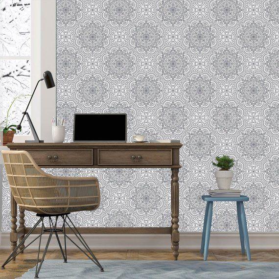 Indian Wallpaper Mandala Black And White Wallpaper Removable Wallpaper Mural Self Adhesive Wallpaper Peel And Stick Wallpaper Grey X71 Black And White Wallpaper Removable Wallpaper White Wallpaper