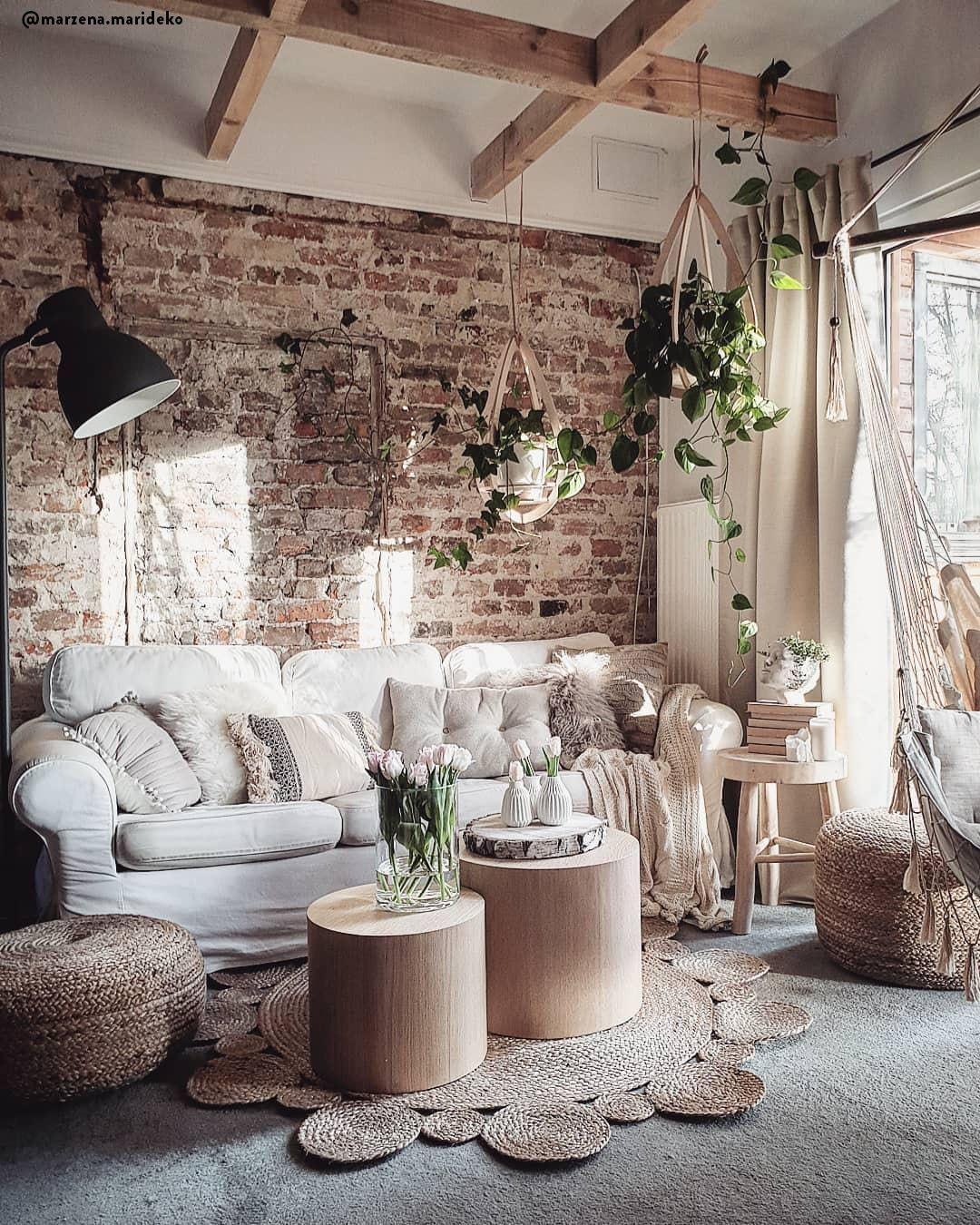 Un salotto country cozy 💕 Il centro del salotto è costituito ...