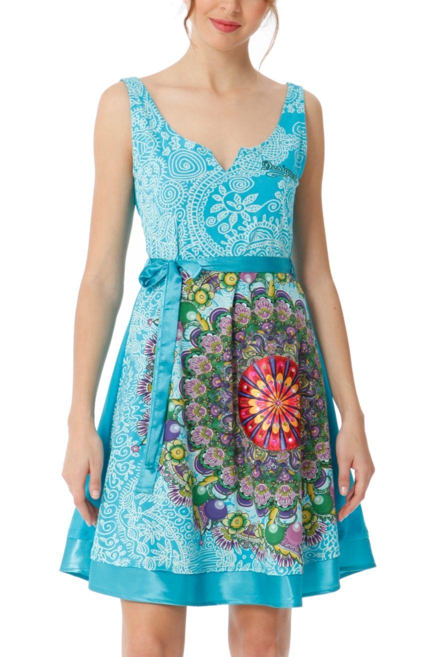 Desigual Dress Argentina (aqua) 41V2875 | Canada | | Desigual ...