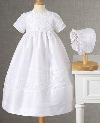 fb37f3016 Lauren Madison Baby Dress, Baby Girls Diamond Pleated Christening Dress -  Kids Baby Girl (0-24 months) - Macy's