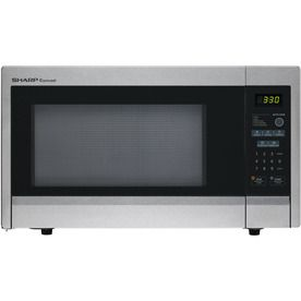 Sharp 1.1-cu ft 1,000-Watt Countertop Microwave (Stainless Steel)