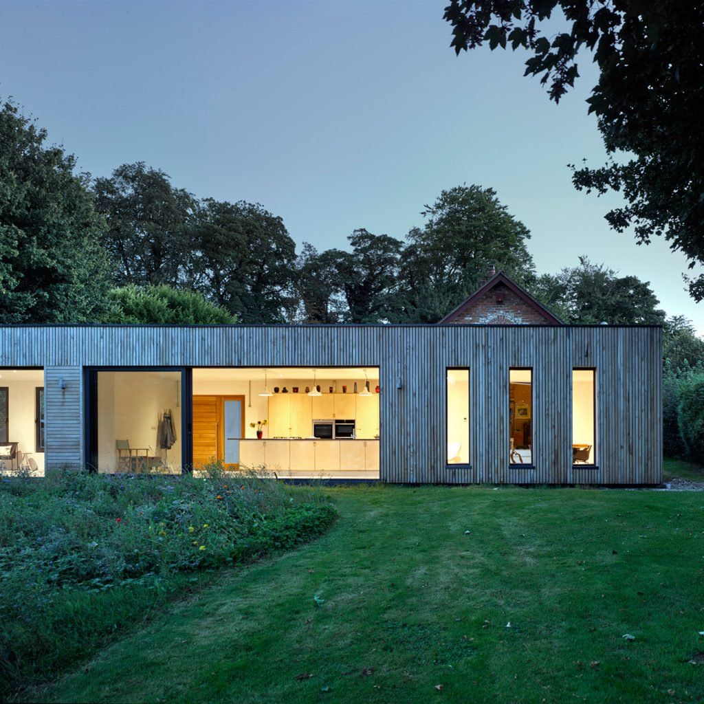 Adam Knibb Architects extends Hampshire barn conversion with timber on