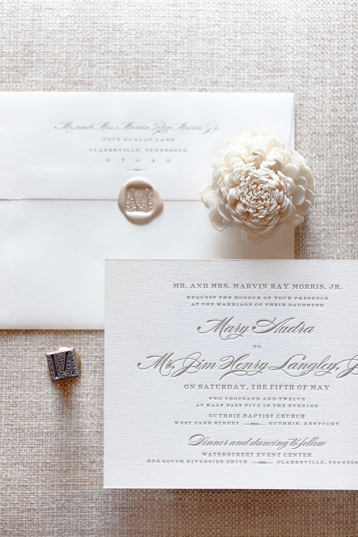 Letterpress Wedding Invitation | Letterpress Wedding Stationary ...