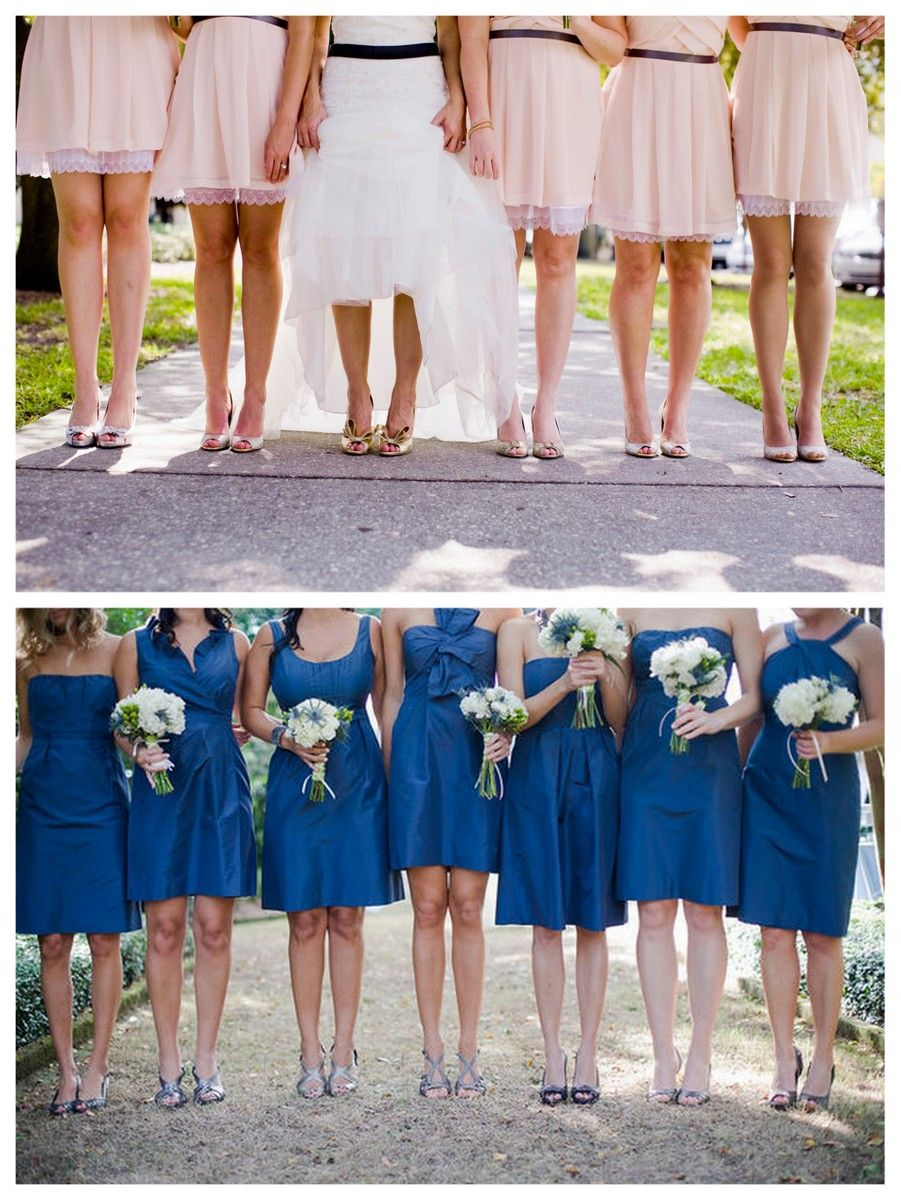 Mismatched bridesmaid accessories part 2 shoes weddings bridesmaids mismatched shoes different shoes same colour ombrellifo Choice Image
