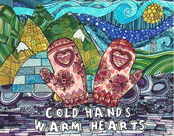 Cold hands warm hearts print, Zentangle art, Zentangle ...