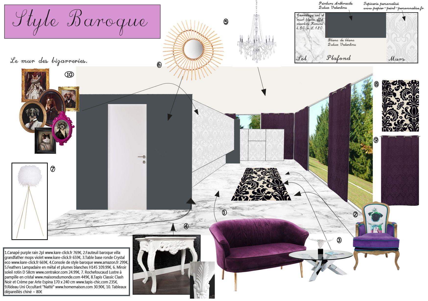Chambre Baroque Noir Et Violet un style baroque et son mur des bizarreries! #déco #violet
