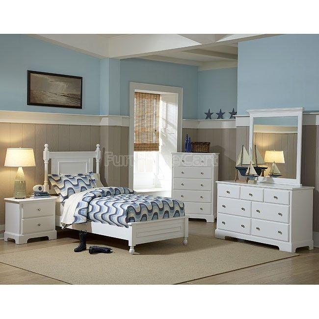 Morelle Youth Bedroom Set (White) Dormitorios juveniles