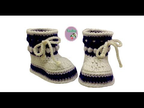 DIY baby booties crochet for beginners //Vasilisa - YouTube | kamer ...