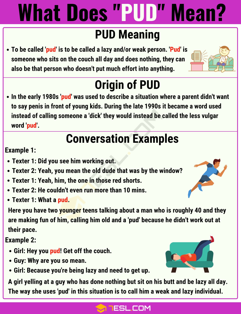 Pud Meaning What Does Pud Mean With Useful Text Conversations 7esl Slang Words English Vocabulary Words Text Conversations