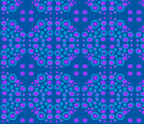 Purple flowers with blue dots fabric by loca____ on Spoonflower - custom fabric