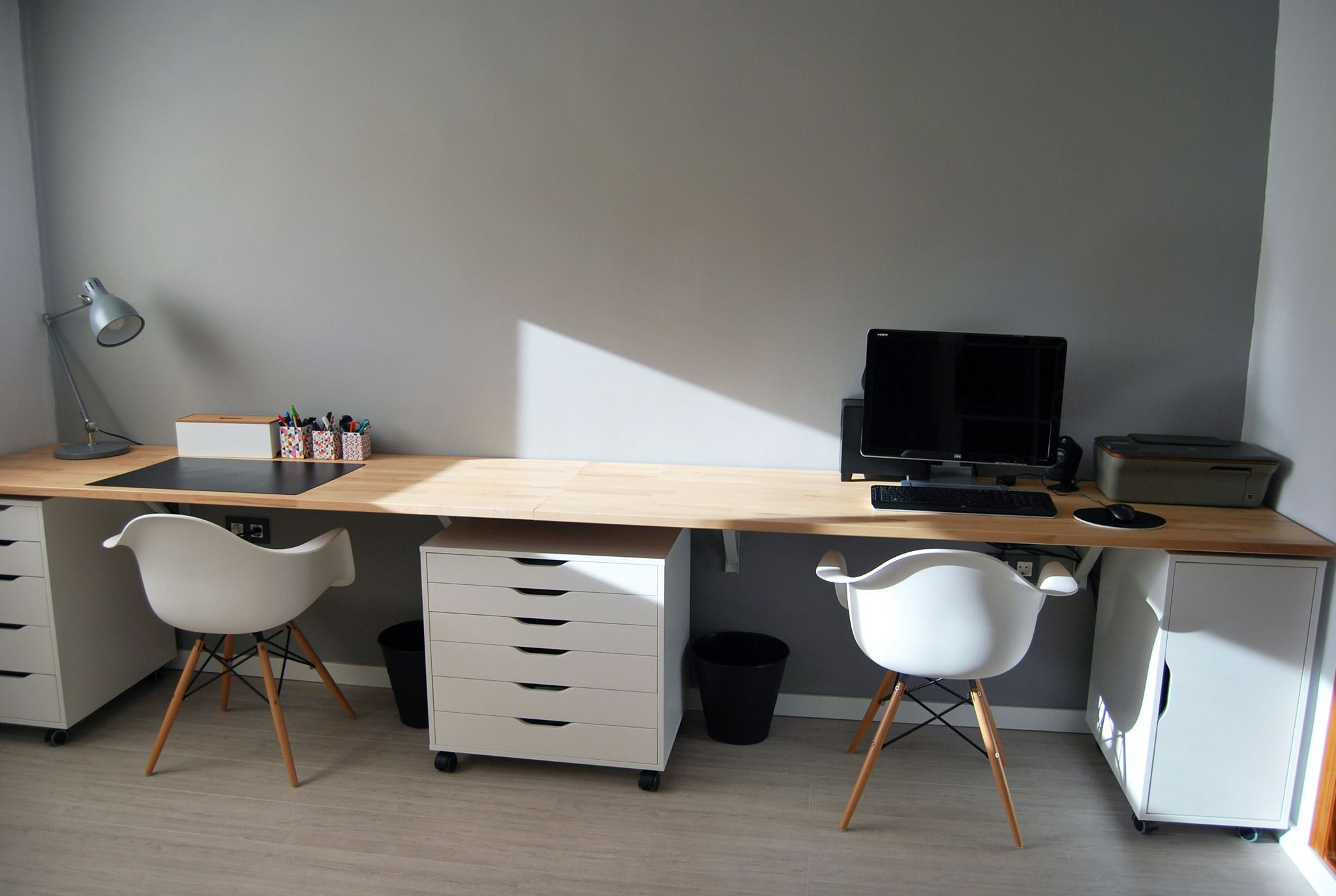 Floating Desk Interior Design Architecture Ikea Alex Furniture Worke