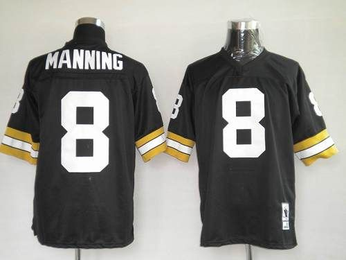 Mitchel   Ness Saints  8 Archie Manning Black Stitched Throwback NFL Jersey  on sale 2e43f3831