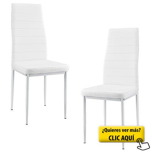 2 x sillas de comedor (blancas)... #silla #comedor | Sillas de ...