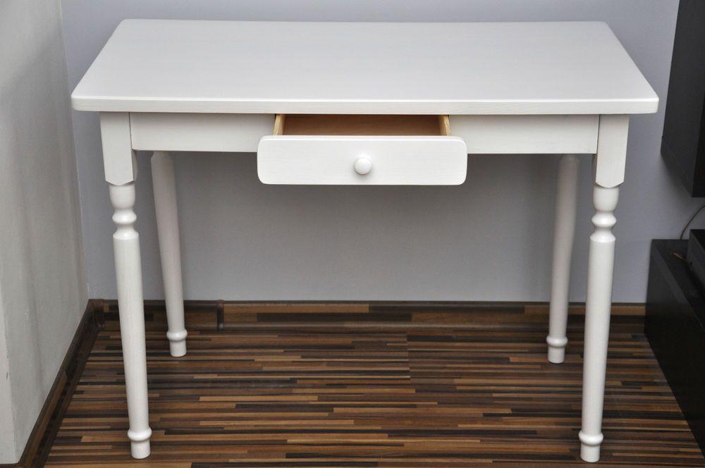 Esstisch Mit Schublade Küchentisch Tisch Kiefer Massiv Restaurant Weiß Neu  In Möbel U0026 Wohnen, Möbel
