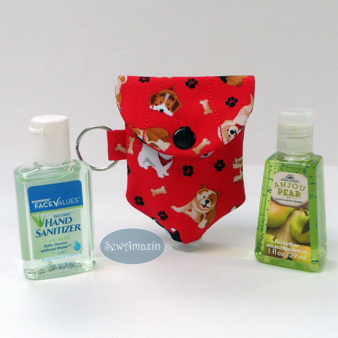 Dog Lovers Hand Sanitizer Holder With Key Ring For 1 Oz Or 2 Oz
