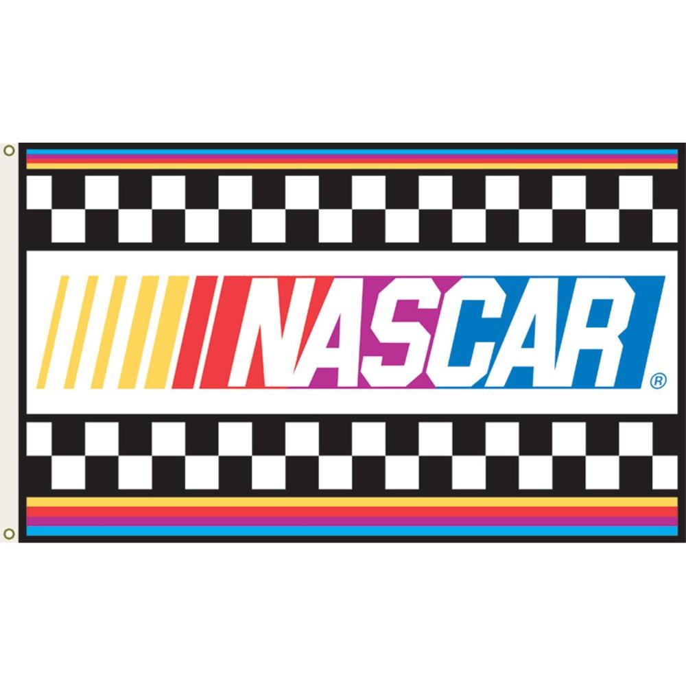 Nascar Logo Flag 3x5' Nascar flags, Nascar, Nascar racing