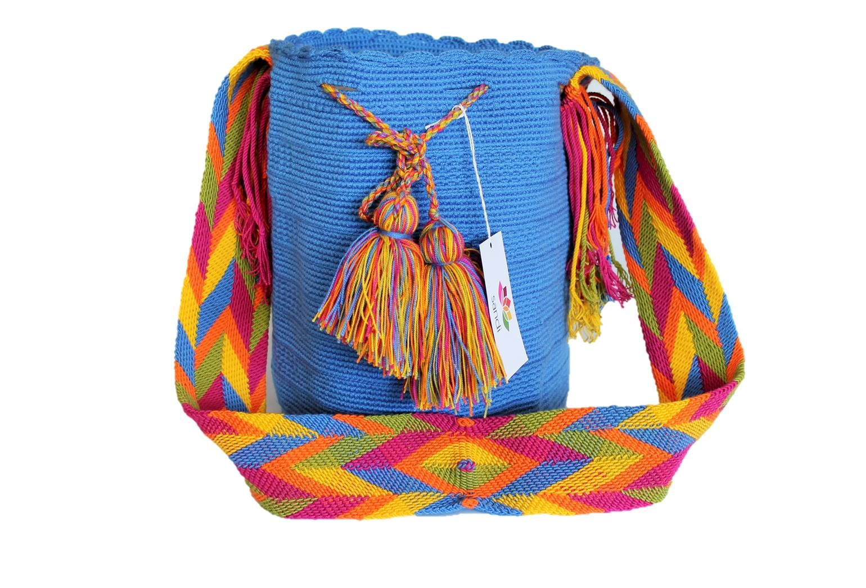 Bolso Wayuu azul tejano