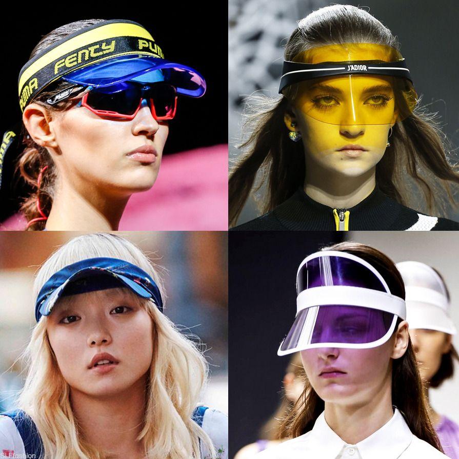 "Accessory Trend for SS18 ""Beachwear""  Sun visor hat cap. Fenty x Puma NYFW 1bd45f45e05"