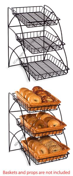 3 Tiered Wire Rack Display Tabletop 14 W Open Shelves Black Food Displays Food Display Diy Food Display