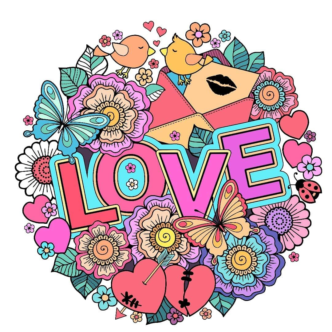 Love is in the air Bible coloring, Coloring books, Happy