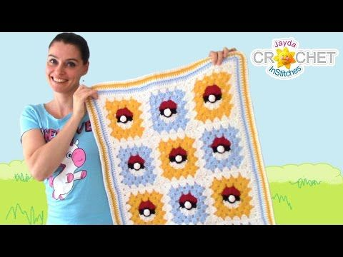 Pokemon Granny Square Crochet Blanket Pattern Youtube Market