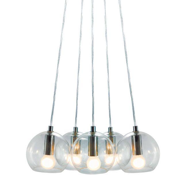 suspension multiglobe h 100 40 w transparent pendant lightings pinterest castorama. Black Bedroom Furniture Sets. Home Design Ideas
