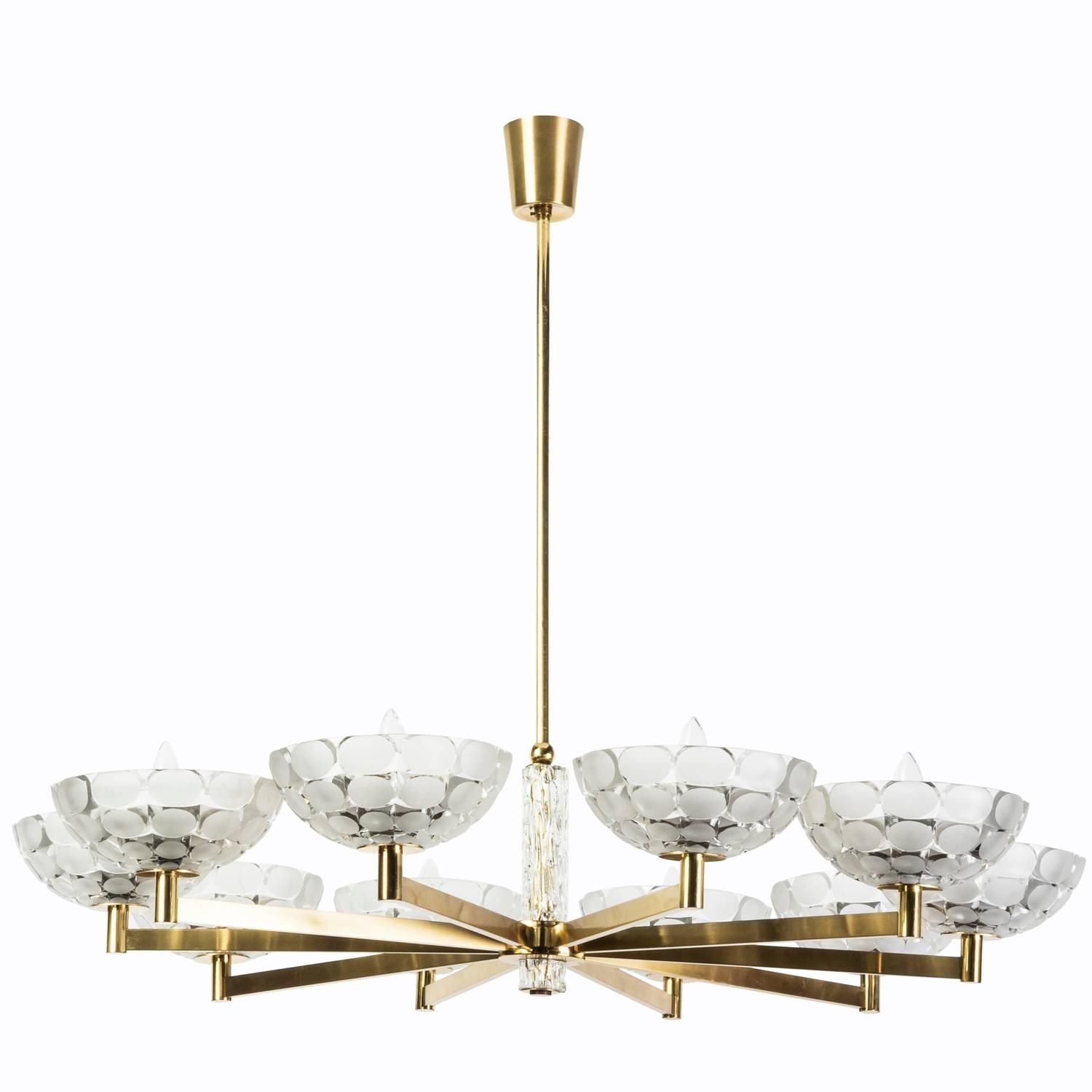 gorgeous austrian mid century modern chandelier by kalmar. Black Bedroom Furniture Sets. Home Design Ideas