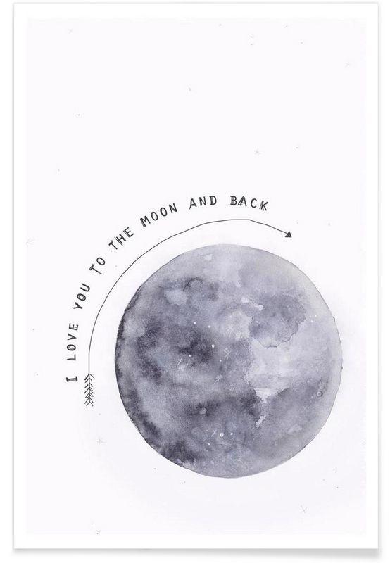 Moon Als Premium Poster Von Maren Kruth Juniqe Zeichnungen