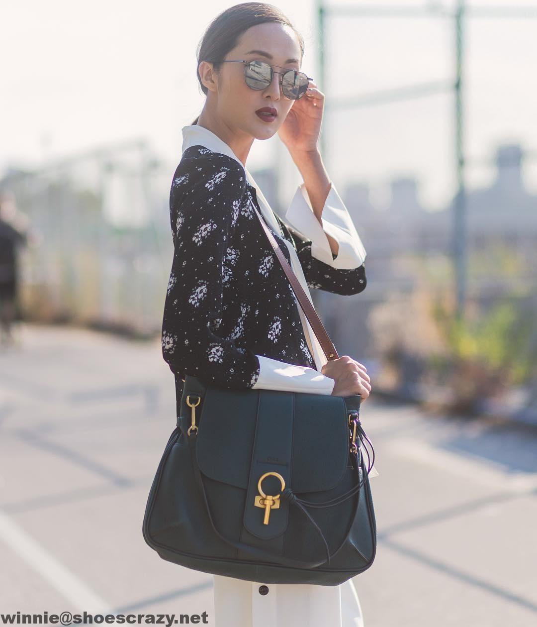 Chloe Lexa Double Strap Cross-Body Bag in Suede Leather 2016  2c38ba9bb