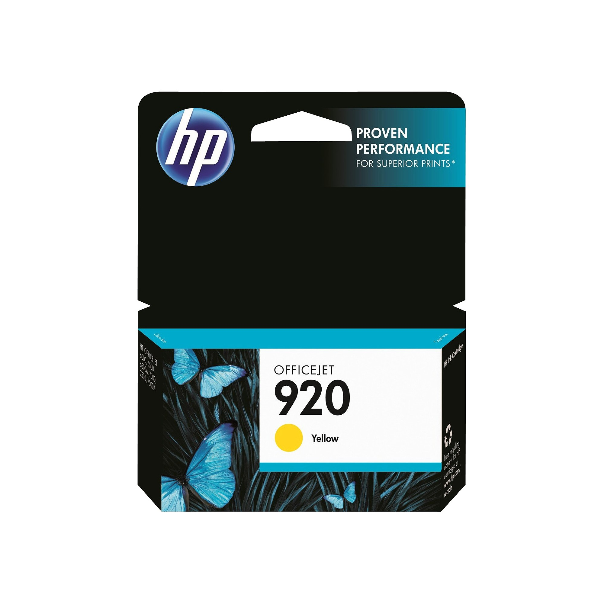 Hp 920 Single Officejet Printer Ink Cartridge Yellow Ch636an
