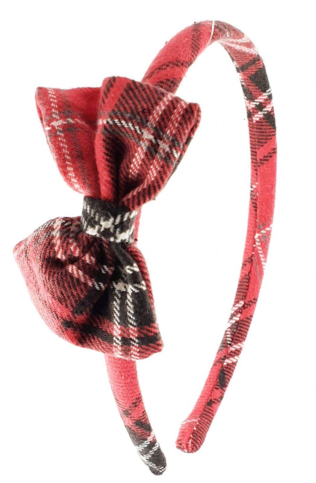 Cerchietto per capelli bambina fatto a mano in tessuto Scozzese Tartan  Inglese  bambina 94aa0fe48af1