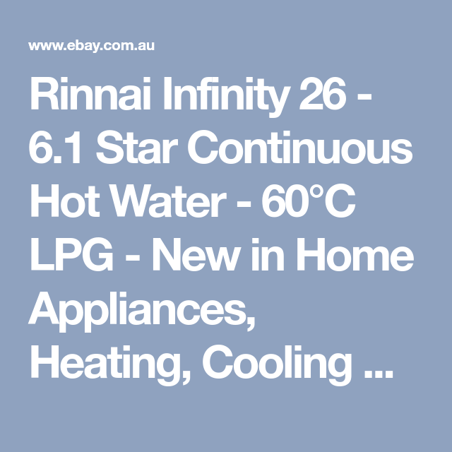 Details About Rinnai Infinity 26 6 1 Star Continuous Home Hot