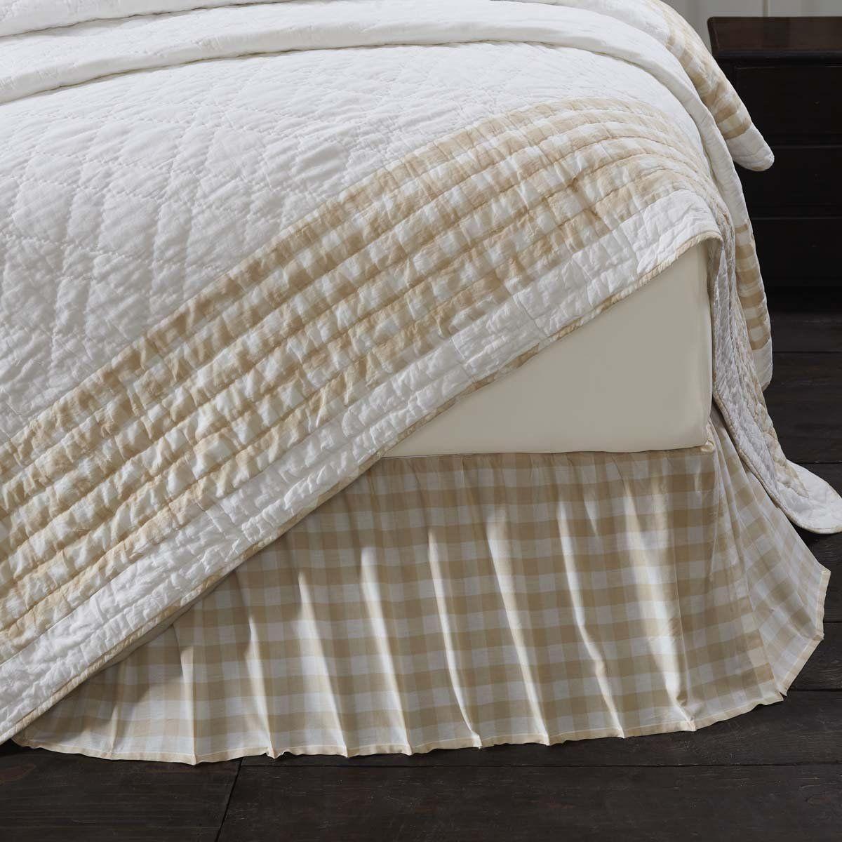 Annie Buffalo Check Tan Twin Bed Skirt Buffalo Check Bedding