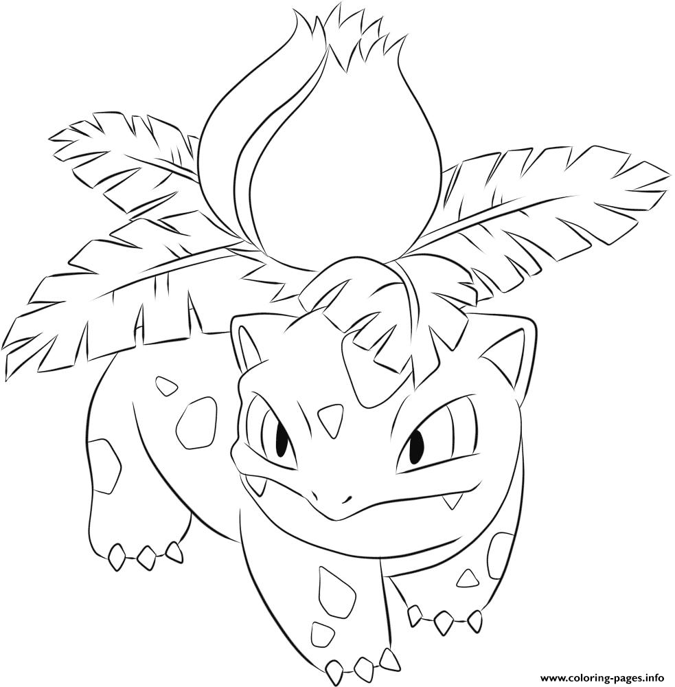 print 002 ivysaur pokemon coloring pages  pokemon