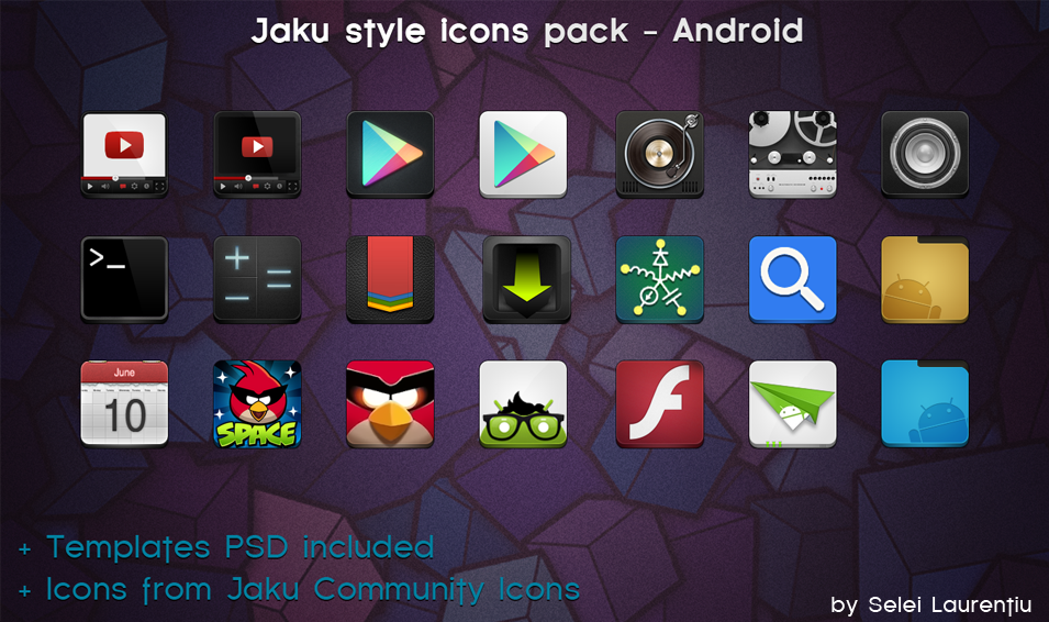 Jaku Style Icons for Android Style icons, Free graphics