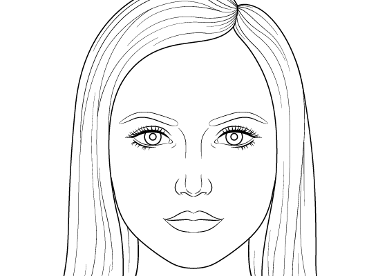 This Step By Step Female Head And Face Drawing Tutorial Explains How To Draw And Proportion A Femal Simple Face Drawing Girl Face Drawing Drawing Tutorial Face
