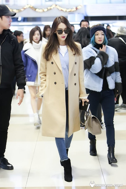 Snsd Yoona Airport Fashion Official Korean Fashion Casual