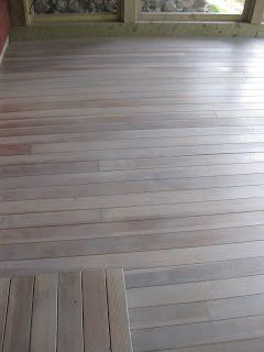 We Finally Did It The Interior Of The Porch Has Been Stained We Started Thinking About This Last Summer A Deck Stain Colors Staining Deck Cedar Deck Stain