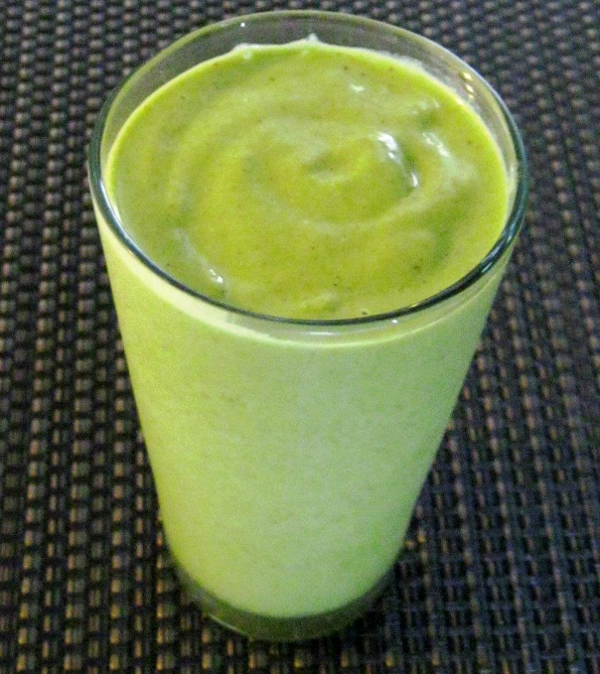 Pistachio Ice Cream Kale Unripe Smoothie Shake