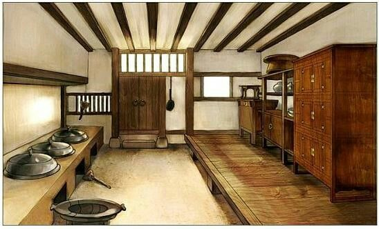 Traditional old korean kitchen traditional for Traditional korean kitchen