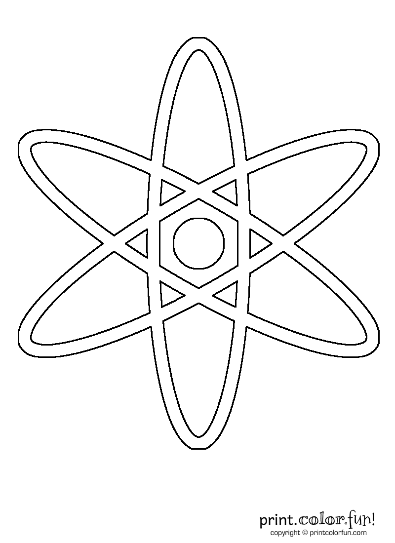 Atom Print Color Fun Free Printables Coloring Pages Crafts Puzzles Cards To Print Coloring Pages Color Worksheets Atom