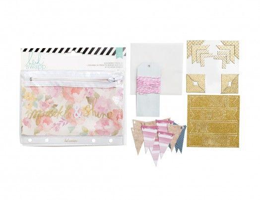 תוצאת תמונה עבור American Crafts Memory Binder Flea Market Pouch Kit Sparkle & Shine