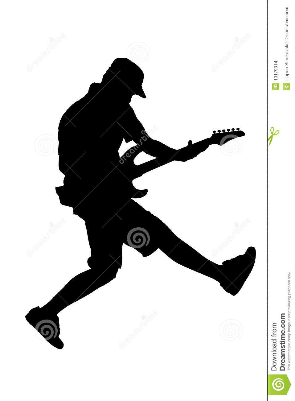 Silhouette of a guitar player jumping | music | Pinterest ...