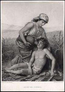 HAGAR and ISHMAEL - GENESIS 21 by Roffe Bauerle,1881