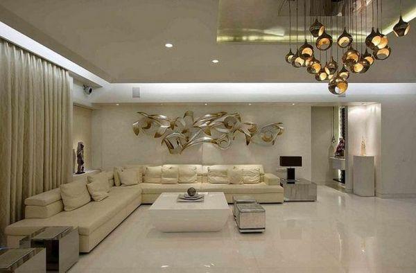 Superb Wohnzimmer Deko bambus dekoration h ngelampen eingebaut